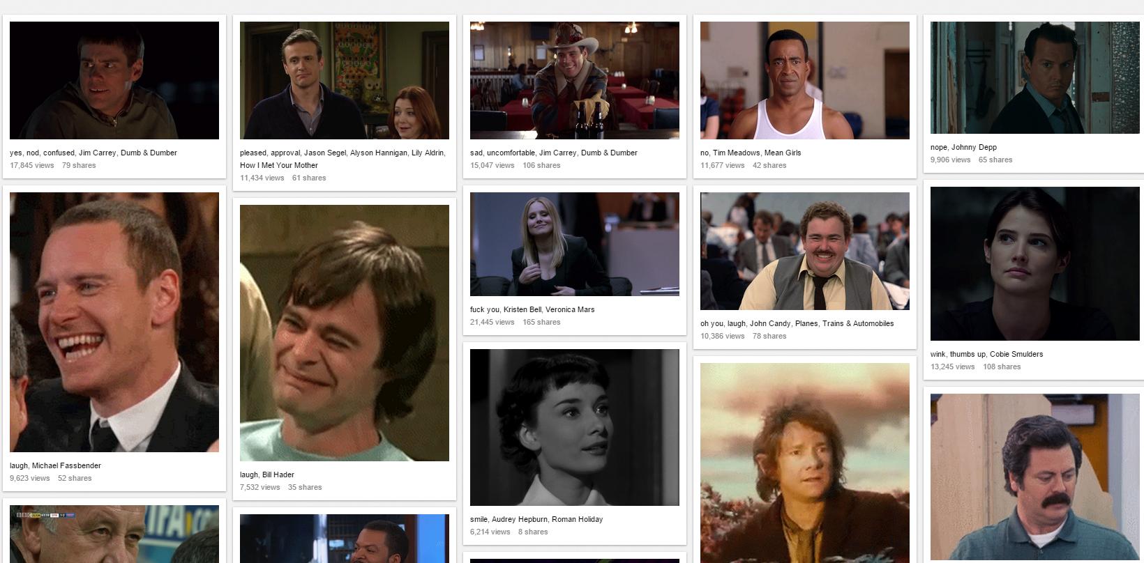 Biblioteca de reacciones en GIFs animados